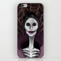 coraline iPhone & iPod Skins featuring Coraline: The Other Mother by SwinkArt