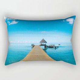 Tahiti Boat Dock Rectangular Pillow