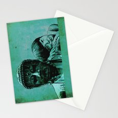 BUDDHA GIRL - SILENCE - quote Stationery Cards