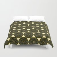 ethnic Duvet Covers featuring ethnic by clemm