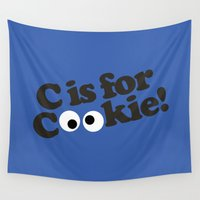 muppet Wall Tapestries featuring C is for Cookie by Laundry Factory