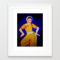 dancer Framed Art Prints featuring Dancer by Priyanka Rastogi
