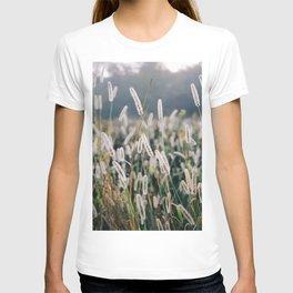 Whimsical Tall Grass Nature Field Landscape Photo T-shirt