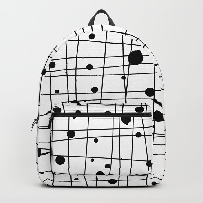 Woven Web black and white Backpack