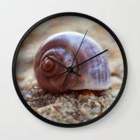 seashell Wall Clocks featuring Seashell by Ekaterina La