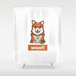 Cute Pembroke Cardigan Welsh Corgi Pet Dog Lover Shower Curtain