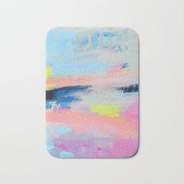 Dreamy Abstract pink Art  Bath Mat
