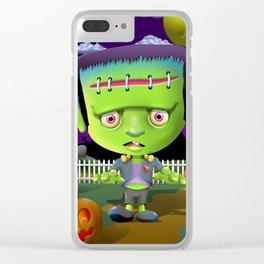 Little Frankie Clear iPhone Case