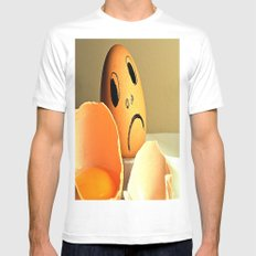 eggs MEDIUM White Mens Fitted Tee