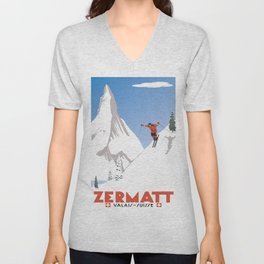 Zermatt, Valais, Switzerland Unisex V-Neck