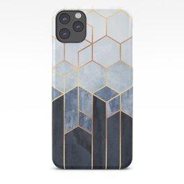 Soft Blue Hexagons iPhone Case