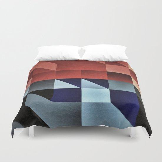 :: geometric maze IX :: Duvet Cover