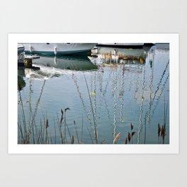 Boats Reflections Water Art Print