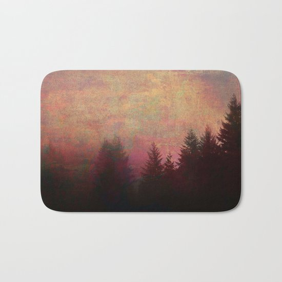 Repose, Abstract Landscape Trees Sky Bath Mat