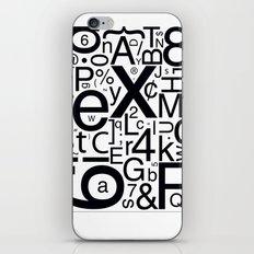 HELVETICA iPhone & iPod Skin