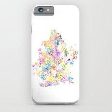 Typographic Brooklyn - Multi Color Watercolor map art Slim Case iPhone 6s