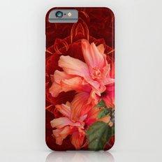 Orange hibiscus and vibrant kaleidoscope iPhone 6s Slim Case