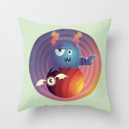 Monster in your head Throw Pillow