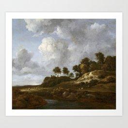Jacob van Ruisdael - Landscape with Cornfields Art Print