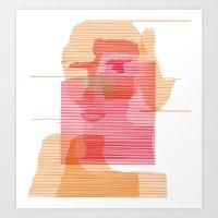 sandra dieckmann Art Prints featuring Sandra Dee by ramalamb