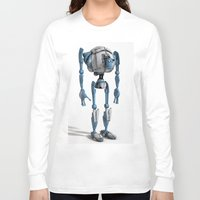 robot Long Sleeve T-shirts featuring Robot by Steve Thorpe