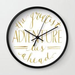 Greatest Adventure Wall Clock