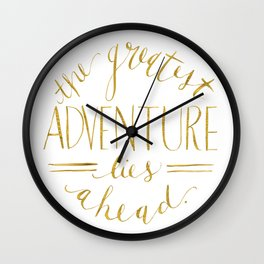 Greatest Adventure Wall Clock