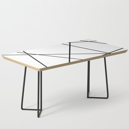 Lines in Chaos II - White Coffee Table