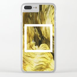 Wooden Texture Clear iPhone Case