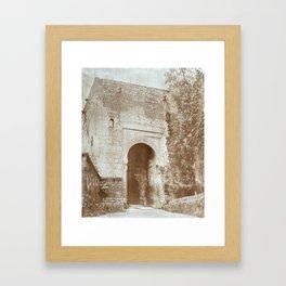 The Alhambra. Puerta de la Justicia Framed Art Print