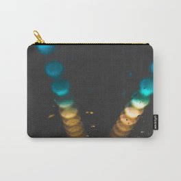 Blue Green Turquoise Red Bokeh Blurred Lights Shimmer Shiny Dots Spots Circles Out Of Focus Carry-All Pouch