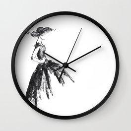 Retro fashion sketch Wall Clock