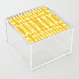 Yellow Linen Shibori Stripe Acrylic Box