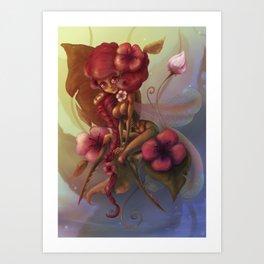 Mantis fairy Art Print