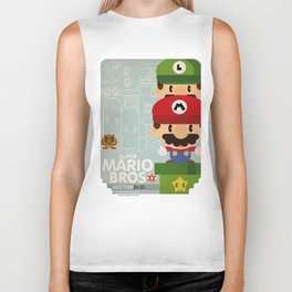 mario bros 2 fan art Biker Tank