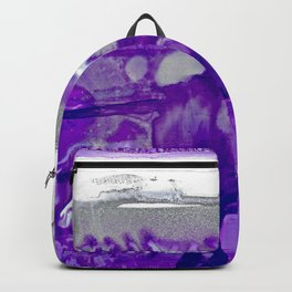 Winter in Purple and Silver Backpack