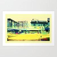 Pike Place Market   Project L0̷SS   Art Print
