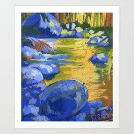 Golden Waters of Lynn Creek.  Art Print