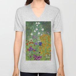 Flower Garden - Gustav Klimt Unisex V-Neck