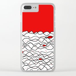 Fish and some other sea Clear iPhone Case