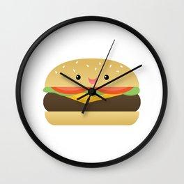 Happy Cheeseburger Wall Clock