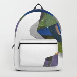 Colorful crystal layers artprint digital modern Backpack