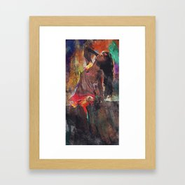 Fences Abstract Portrait Framed Art Print