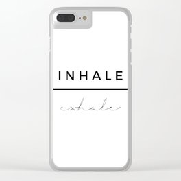 Inhale - Exhale Clear iPhone Case