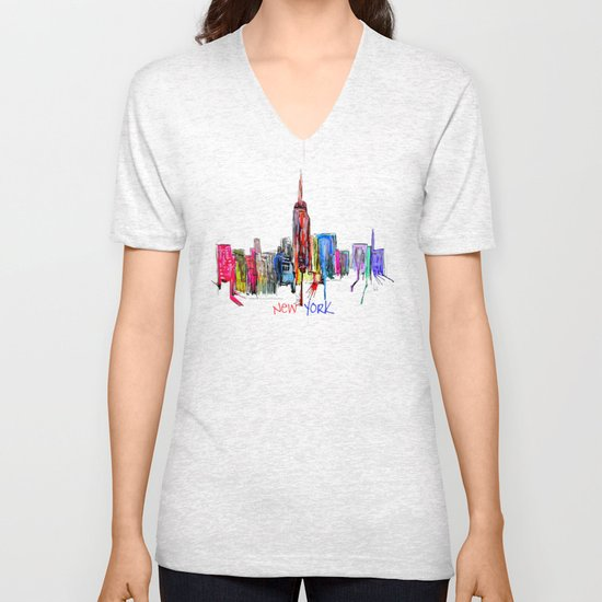 new york inked  Unisex V-Neck