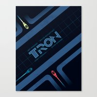 tron Canvas Prints featuring Tron by nathanandersonart