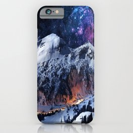 Mountain CALM IN space view iPhone Case