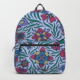 Summer Flowers Blue Backpack