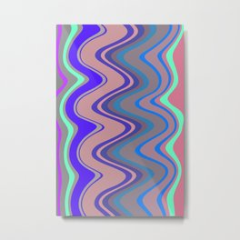 Distorted stripes in colour 5 Metal Print