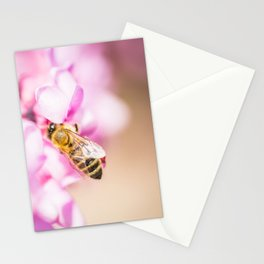 Bee at Work Close Up Stationery Cards